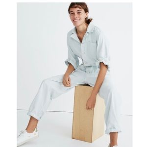 Madewell As Ever Coveralls Jumpsuit in Dawn Mist